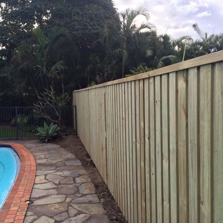 I custom built 18 Merbau timber posts for the new tubular aluminium pool  fence