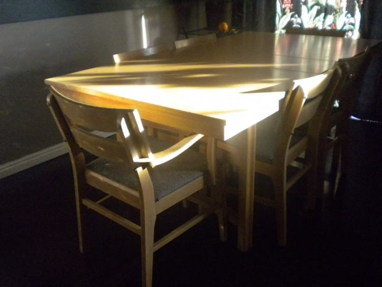 Ercol Blonde Mid Century Rectangular Drop Leaf Dining Table And 4 Windsor  Chairs photo 1