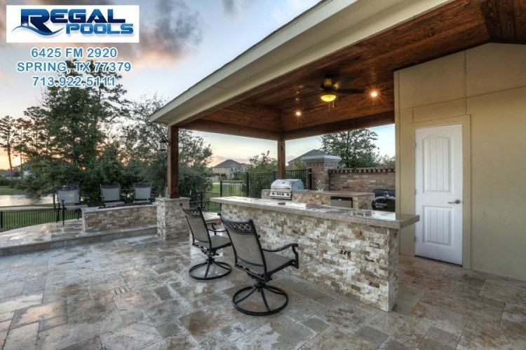 55 Seasons Trace The Woodlands, TX 77382: Photo Relax in this outdoor living  space, perfect for any type of weather! Notice the bead board cathedral  ceiling