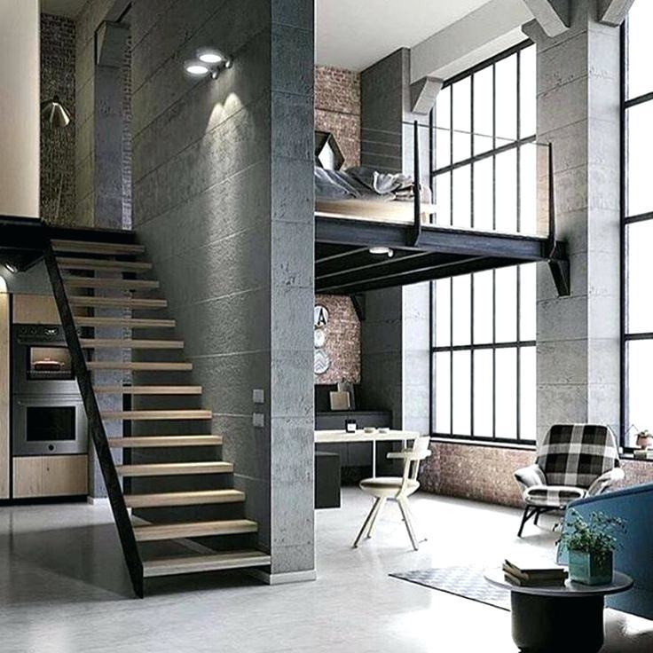 Open concept loft living withexposed brick and historical design