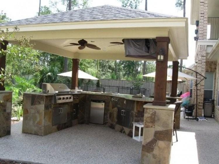 pergola outdoor kitchen