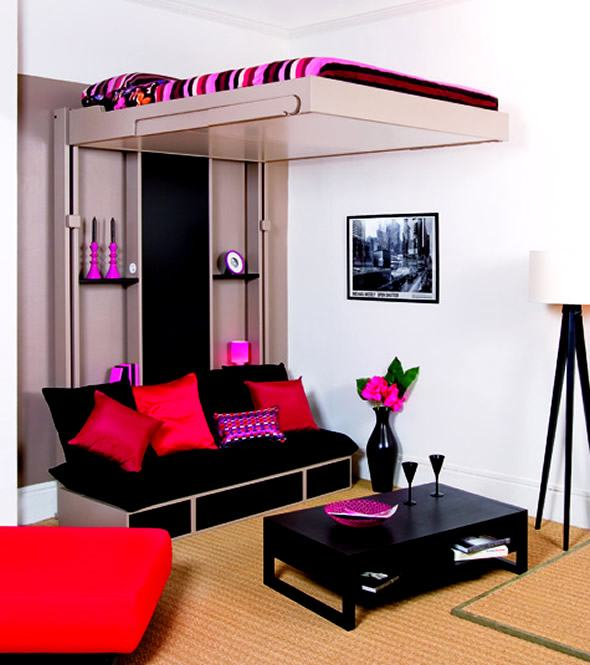 Cool Teen Beds Modern Small Bedroom Ideas Decorating Intended For 10