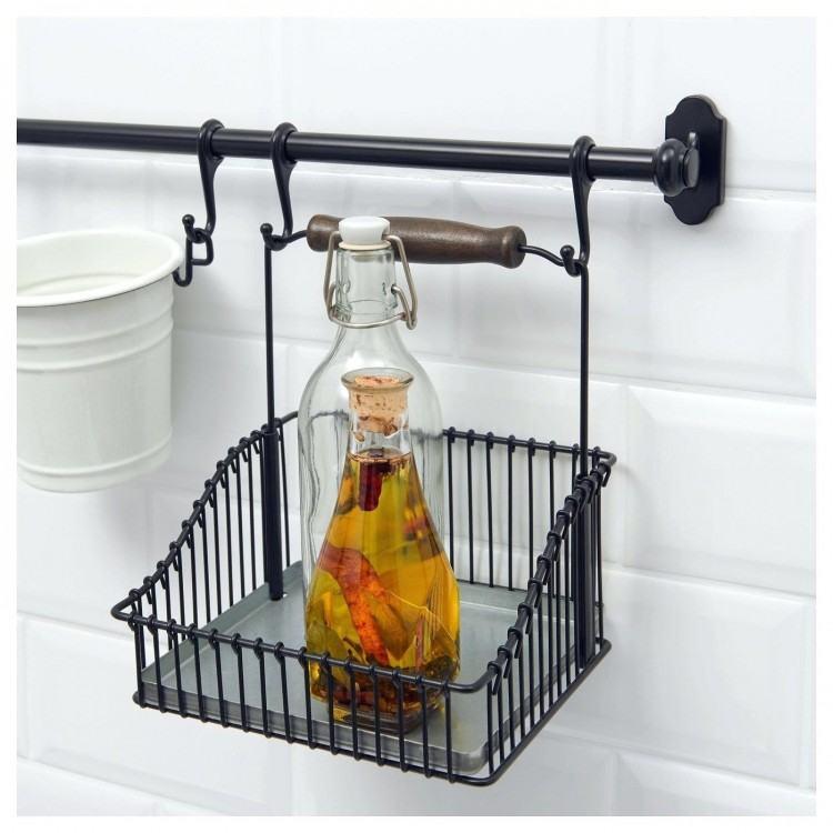 95 FINTORP kitchen roll holder, black