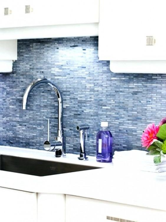 Wonderful Backsplash Tile Ideas Enhanced with Beautiful Flowers Put on  Granite Kitchen Countertop | Large