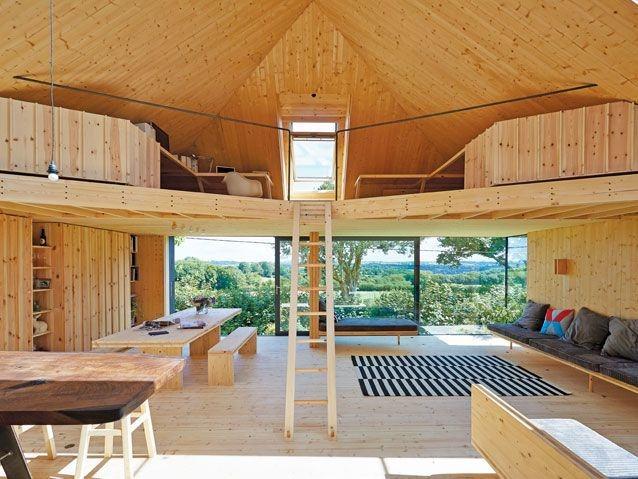 (Glass, gable, grand, design, house)