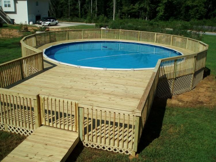 The  slat wooden slides allow for access to the workings of the pool, while the  fully