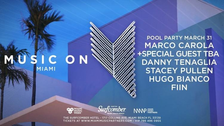 Made in Miami Pool Party w/ Oscar G & Friends Miami Music Week @ Kimpton  Surfcomber Hotel,