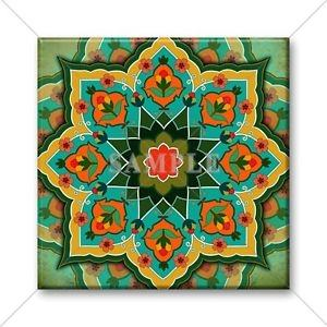 "Color: 4"" x 4"" Ceramic  Designer Tile ORANGE Trivet Wall Kitchen Backsplash"