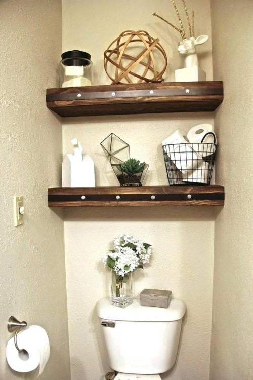 over the toilet shelf ladder shelves for bathroom toilet shelves ideas