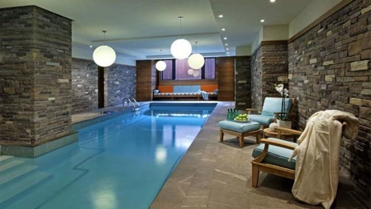 Indoor Outdoor Swimming Pool Residential Pools Design Ideas Home