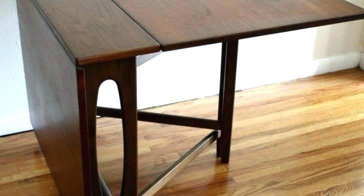 Wonderful Foldable Dining Room Table Minimalist Danish Folding Ked Vintage