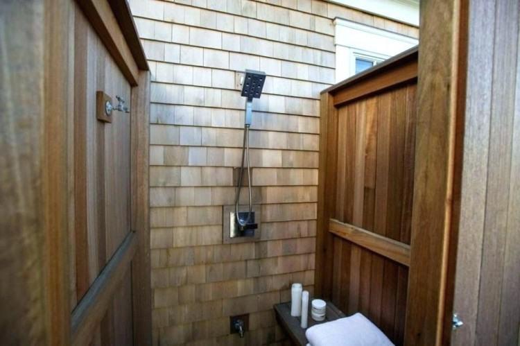 outdoor shower plans simple enclosure ideas