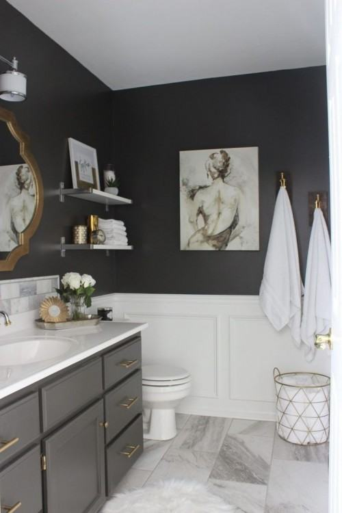 dark tile bathroom small ideas gray images
