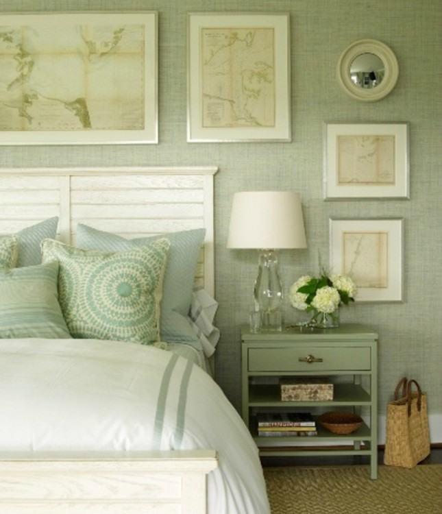 bedroom brown walls
