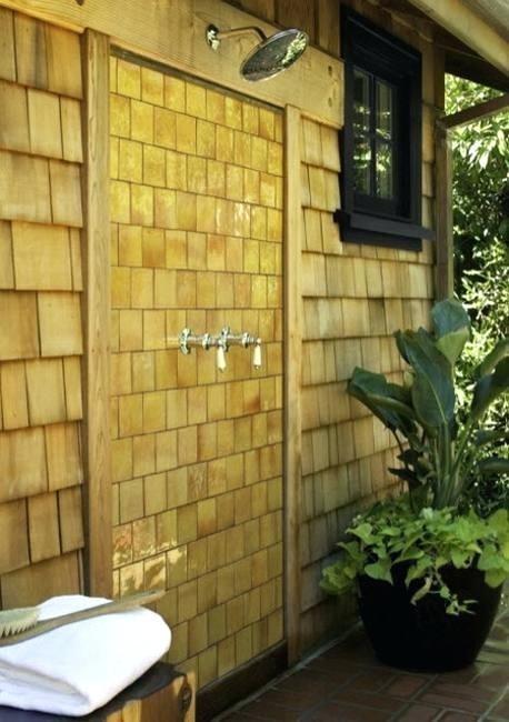 PVC outdoor shower ideas