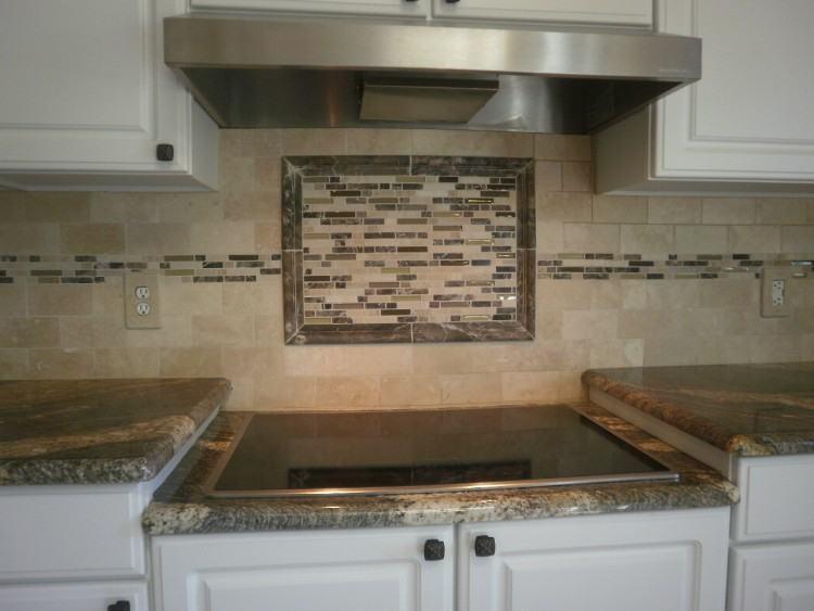 Kitchen Tile Backsplash Design Ideas Subway Tiles With Mosaic for Kitchen  Backsplash Subway Tile With Accent