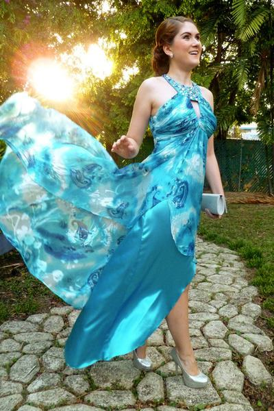 blue tulle beaded sweetheart strapless ball gown floor lace up prom  dress