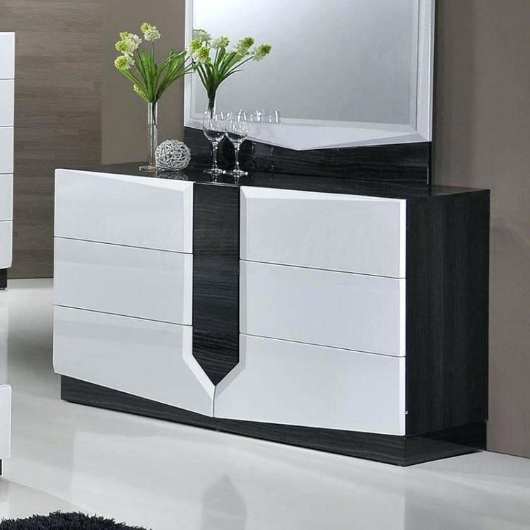 com Global Furniture Hudson 4 Piece Platform Bedroom Set  In Zebra Grey/ White
