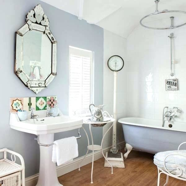 Small chairs or stools add more comfort and style to bathrooms designs