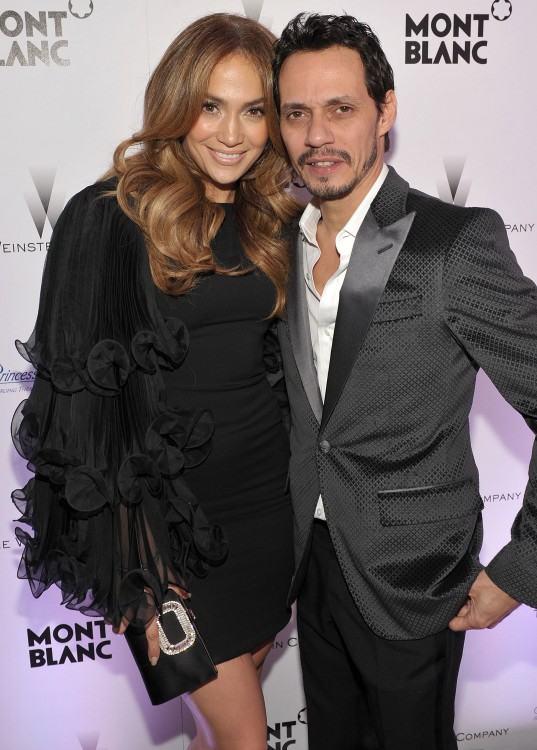 Picture / Reuters Jennifer Lopez (left) and Marc Anthony