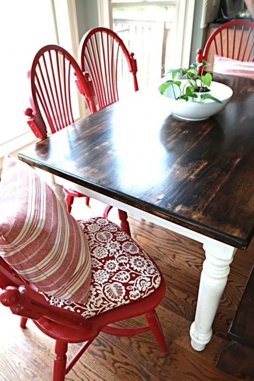 Red chairs bring excitement and playfulness to the room [From: Becky  Harris / Houzz