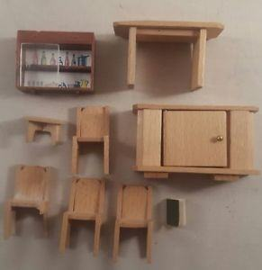 Out of stock! Dolls House Light Oak Modern Dining Room Furniture