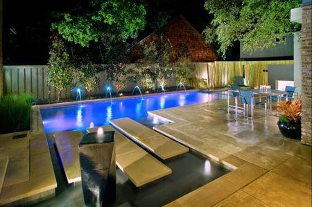 swimming pool lighting gorgeous landscape lighting beautify lavish home swimming  pool that also decorated with green