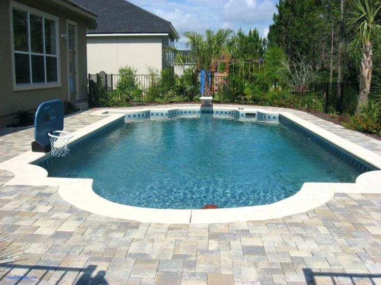 Simple, elegant, rectangular gunite pool