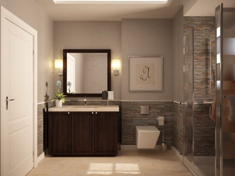 Bathroom : Horrible Residential Small Bathroom Ideas With Glass Shower Door  Also Modern White Toilet Seat Modern Shower Room Design for Refreshing Bath