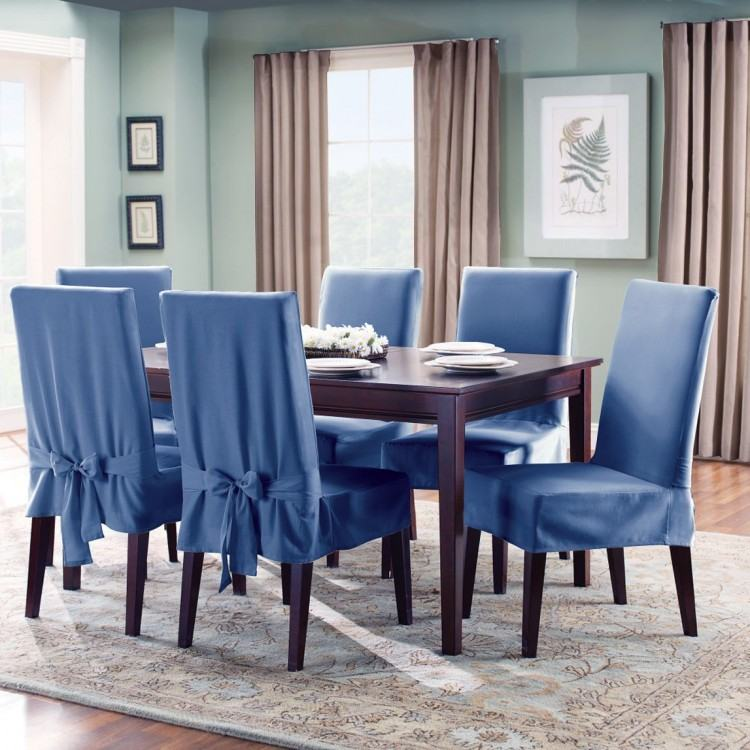 Full Size of White Cotton Dining Room Chair Covers Metal Slipcover Linen  Delectable Sure Blue Kitchen