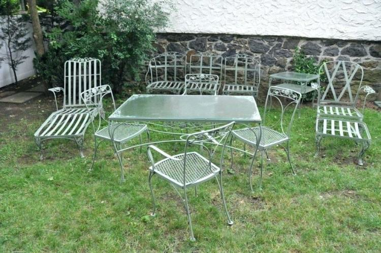 wrought iron vintage patio furniture