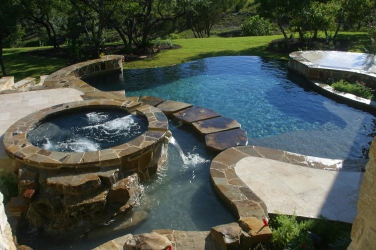Taking advantage of your property's natural features may mean installing an infinity  pool that allows for breathtaking views of the valley or lake below;