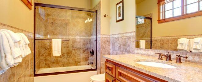 modern bathroom remodel by Planet Home Remodeling Corp