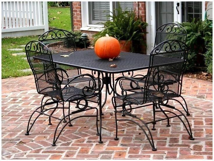 Patio, Patio Set On Sale Discount Outdoor Furniture Green Cushions On  The Dark Brown Chair
