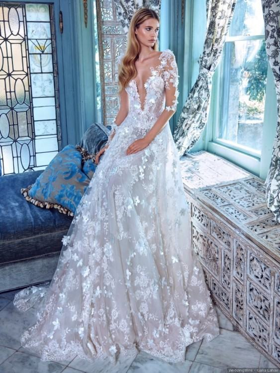 Light Blue Islamic Hijab 3D Floral Wedding Dresses 2018 Ball Gown High Neck  Long Sleeves Beaded Plus Size Country Kaftan Abayas Bridal Gowns Second  Marriage