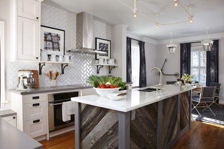 grey kitchen ideas grey and white