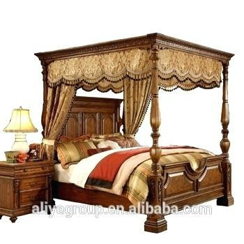 antique canopy bed inspired white luxury king poster crown