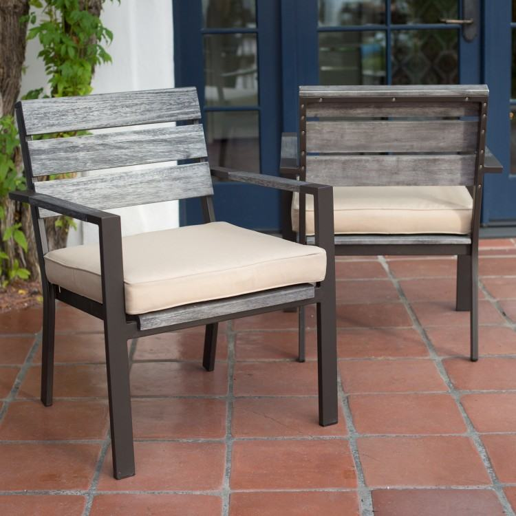 Belham Living Bella All Weather Wicker Patio Dining Chair – Set of 25