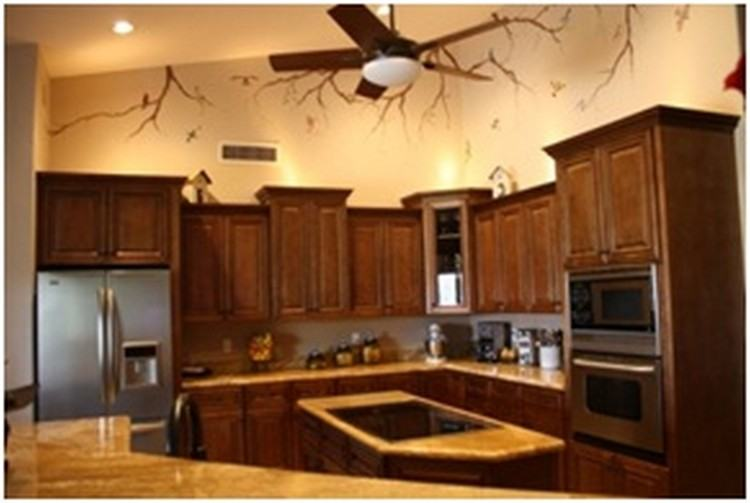 Full Size of Marvelous Kitchen Flooring Colors Cherry Cabinets Wood Floor  Covering Dark Bathroom Wall Makeovers