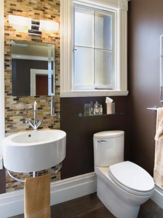 Dark wood cabinet and modern tile floor