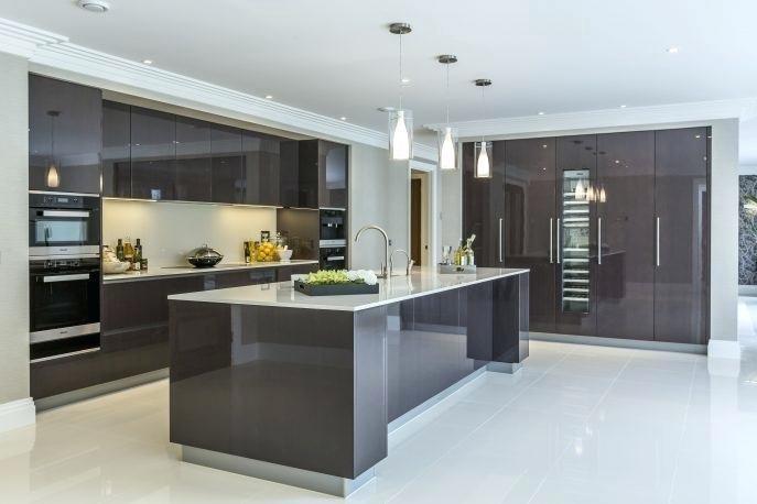 Kitchen, Modern Small Kitchen Designs 2012 Elegant Ceramics Floor  Tiling Laminated Wooden Floor Curved Shape