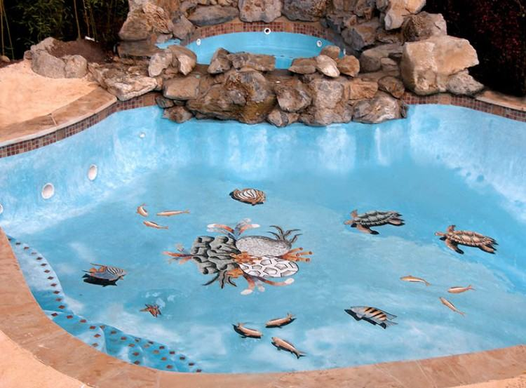 swimming pool mosaic