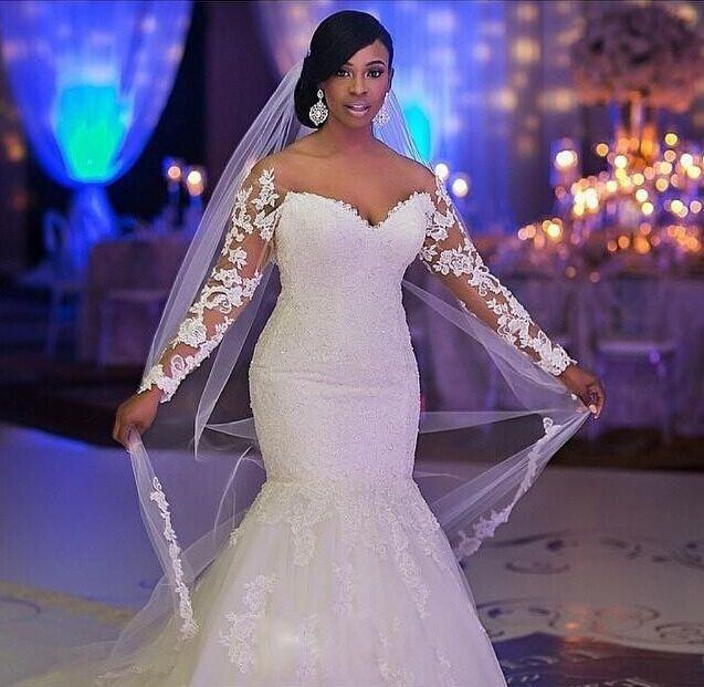 White plus size wedding
