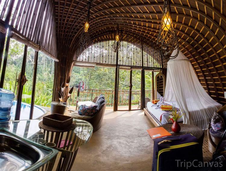 Taking inspiration from Balinese feng shui, Asta Kosala Kosali, local  architects Somia Design Studio have taken the essence of traditional  Balinese