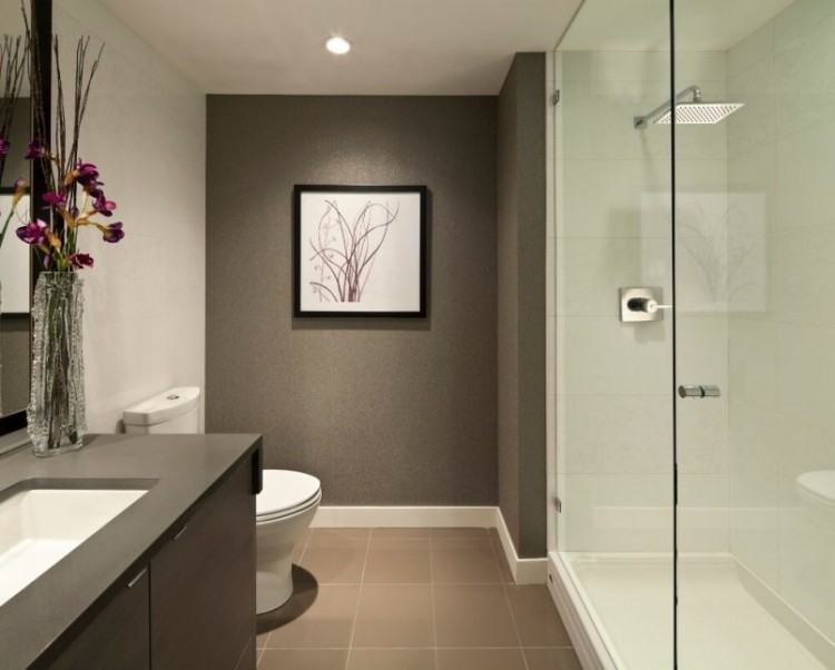 Small Bathroom Tile Ideas Brown Stripped Tiles White Wash Basin Cream Bath  Suit Black Bath Up ~ dickoatts