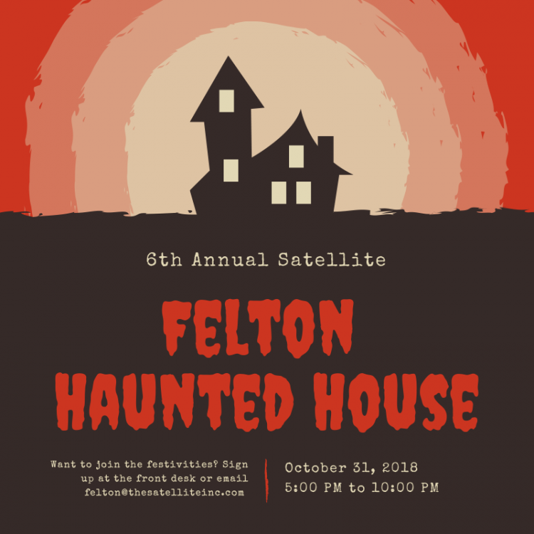 Poster, banner or background for Halloween Party night with haunted house