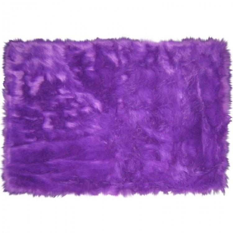 blue fuzzy rug