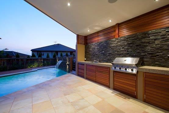 Maybe what you need is a spa with water feature [Design: The Matheson  Team