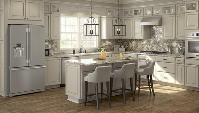 Pale Gray Backsplash Tile