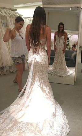 Pnina Tornai 2016 White Lace Ball Gown Wedding Dresses With Crystal  Embroidered Short Sleeve Keyhole Back Ruffled Tulle Bridal Gowns Wedding  Dresses For